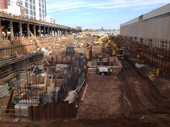 Excavation for Hudson Yards project, New York, NY