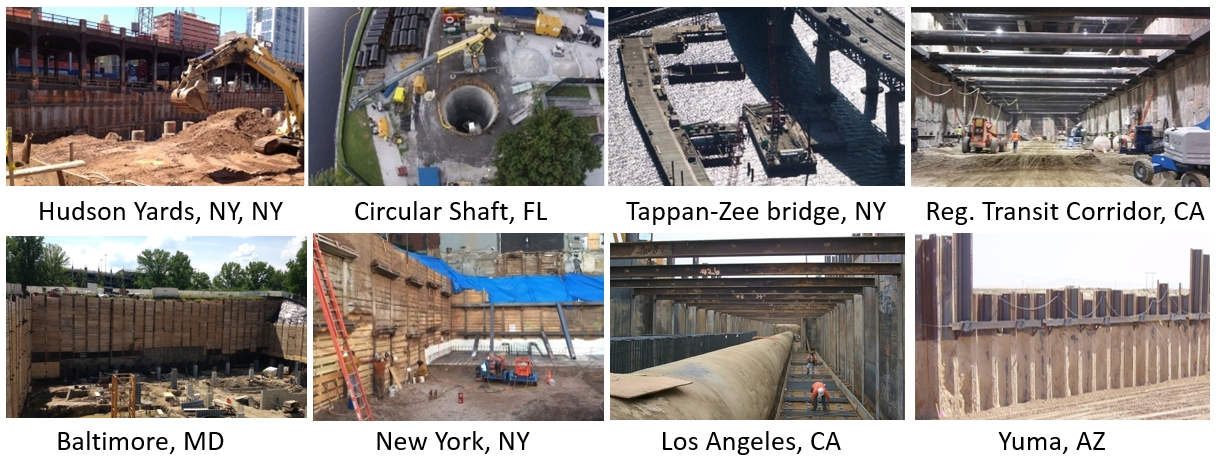 Projects designed by DeepEX deep excavation software