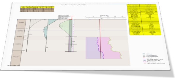 Pile Of Reports : Helical pile analysis software helixpile deep excavation