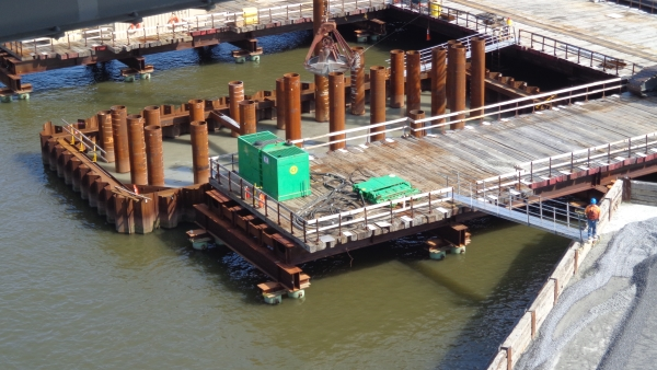 Cofferdams for New Tapan Zee Bridge designed with DeepEX software