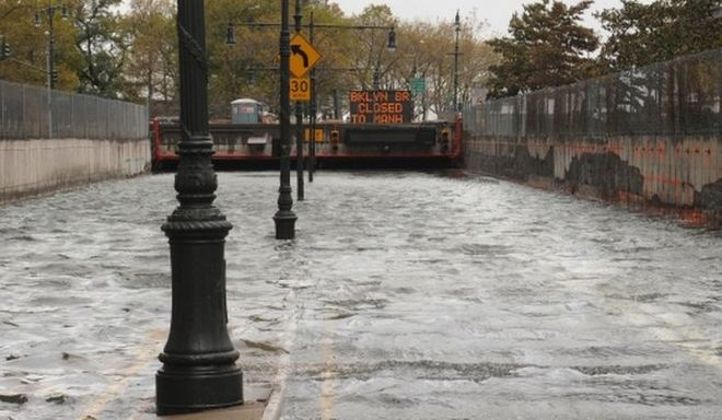 Underpass in Brookly flooded by Sandy