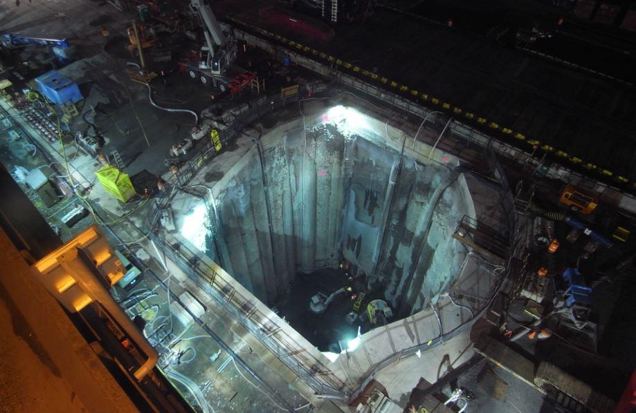 Seattle Viaduct Repair Access Shaft Jan/14/15