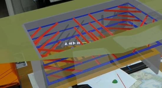 Holographic model of a deep excavation with DeepEX