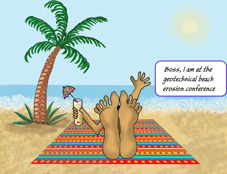 Geotechnical beach erosion conference - funny image