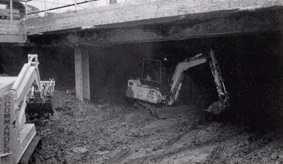 Top Down excavation, Beth Israel Hospital, Boston