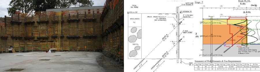 Needle Beam Shoring For Wall : Shoring engineering design deep excavation
