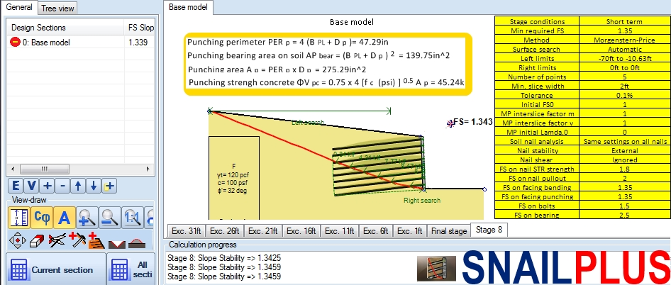 Snail Plus Soil Nailing Software - Deep Excavation