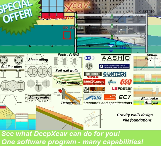 Sheet Pile Wall Design Calculation : Sheet pile design software deep