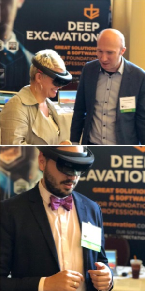 Seeing deep excavations in augmented reality with DeepEX and HoloDeepEX